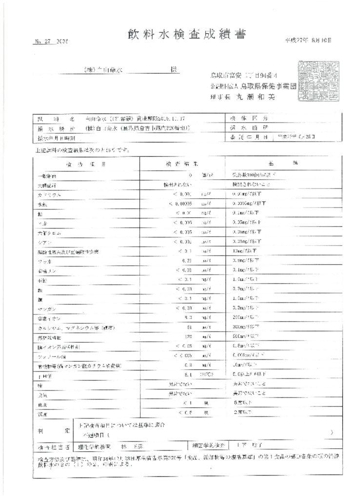 thumbnail of 飲料水検査成績書平成27年6月10日