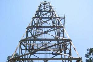 2002年5月頃 白山命水掘削風景 ボーリングタワー