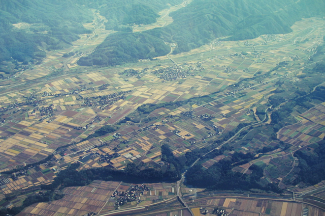 白山命水採水地上空写真